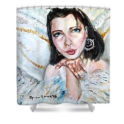 Kiss Of An Angel Shower Curtain