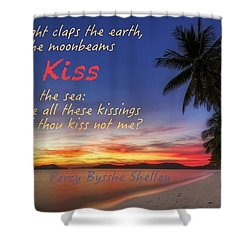 Shower Curtain featuring the photograph Kiss The Sea by David Norman