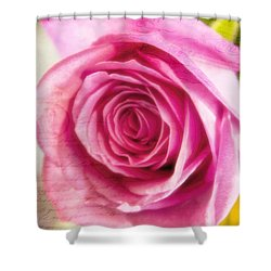 Shower Curtain featuring the photograph Kissed With Pink by Joan Bertucci