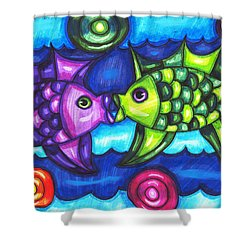 Kissing Fish Shower Curtain