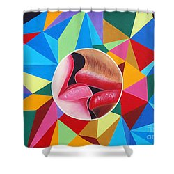 Kissing On The Lips Shower Curtain by Ragunath Venkatraman