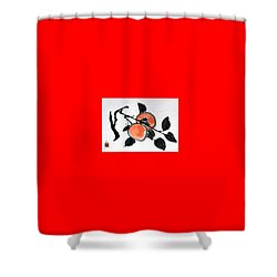 Kissing Persimmons Shower Curtain