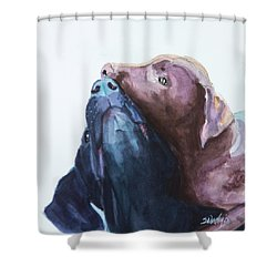 Kiss,nip Shower Curtain