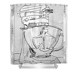 Kitchen Aid Shower Curtain by Barbara Andolsek