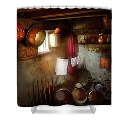 Shower Curtain featuring the photograph Kitchen - Homesteading Life by Mike Savad