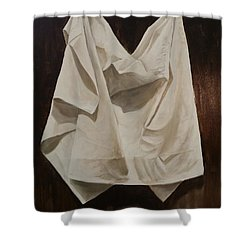 Painting Alla Rembrandt - Minimalist Still Life Study Shower Curtain