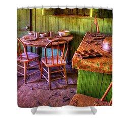 Kitchen Table Bodie California Shower Curtain