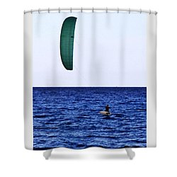 Kite Board Shower Curtain by John Wartman