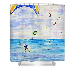 Kite Surfer Shower Curtain
