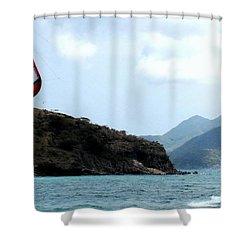 Kite Surfer St Kitts Shower Curtain