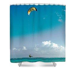 Kitebording Shower Curtain
