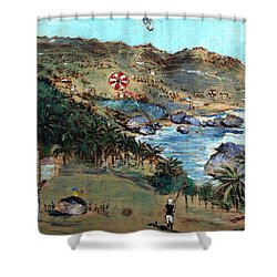 Kites At Bathsheba Shower Curtain