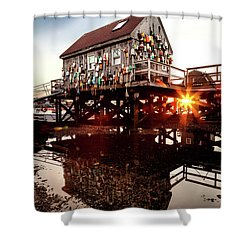 Kittery Lobster Shack Shower Curtain