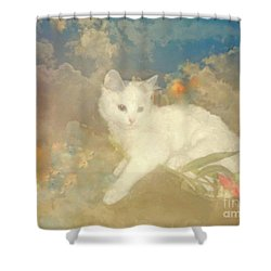 Kitty Art Precious By Sherriofpalmsprings Shower Curtain