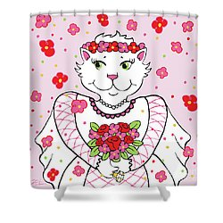 Kitty Bride Shower Curtain