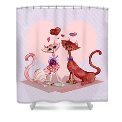 Kitty Cat Love Shower Curtain