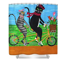 Kitty Cat Outing Shower Curtain