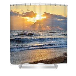 Kitty Hawk Sunrise Shower Curtain