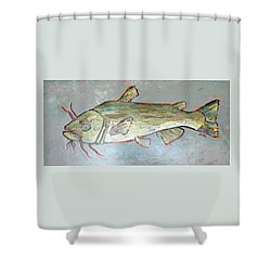 Kitty The Catfish Shower Curtain