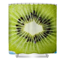 Kiwi Cut Shower Curtain by Ray Laskowitz - Printscapes