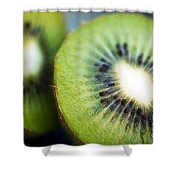 Kiwi Fruit Halves Shower Curtain by Ray Laskowitz - Printscapes