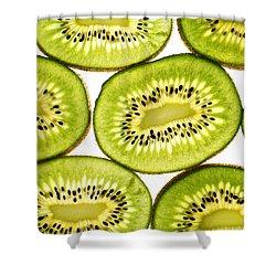 Kiwi Fruit II Shower Curtain by Paul Ge