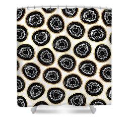Kiwi Pattern Shower Curtain by Elisabeth Fredriksson
