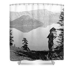 Klamath Chief, C1923 Shower Curtain by Granger