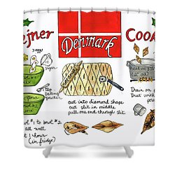 Klejner Cookies Shower Curtain