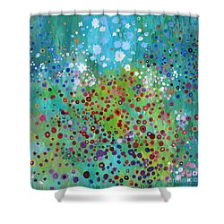 Klimt's Garden Shower Curtain