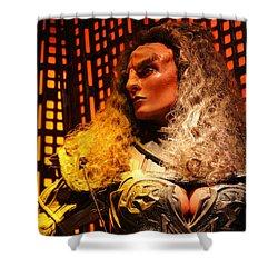Shower Curtain featuring the photograph Klingon by Kristin Elmquist