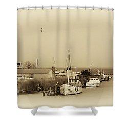 Knapps Narrows Tilghman Island Shower Curtain by Bill Cannon