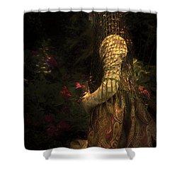 Kneeling In The Garden Shower Curtain