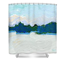 Knife Lake Shower Curtain by Rodger Ellingson