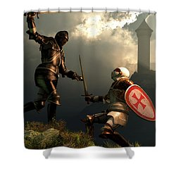 Knight Fight Shower Curtain