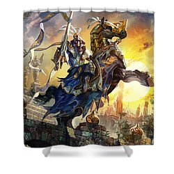 Knight Of New Benalia Shower Curtain by Ryan Barger
