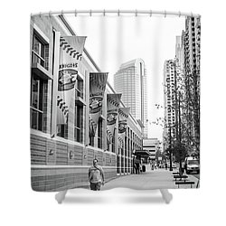 Knights Baseball Stadium Shower Curtain