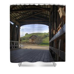 Knights Ferry Covered Bridge Shower Curtain