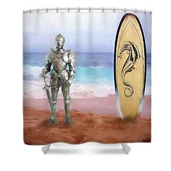 Shower Curtain featuring the painting Knights Landing by Michael Cleere