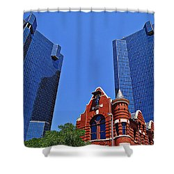 Shower Curtain featuring the photograph Knights Of Pythias Castle Hall by Kathy Churchman