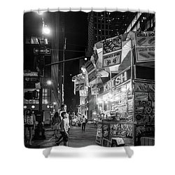 Knish, New York City  -17831-17832-bw Shower Curtain