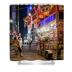 Knish, New York City  -17831-17832-sq Shower Curtain