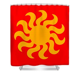 Knitted Sun Shower Curtain