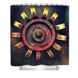 Knob Shower Curtain by Joseph Skompski