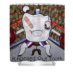 Knocked Out Tooth Shower Curtain by Anthony Falbo