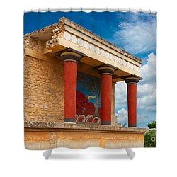Knossos Palace At Crete, Greece Shower Curtain