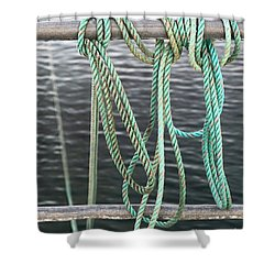 Shower Curtain featuring the photograph Knot Of My Warf II by Stephen Mitchell
