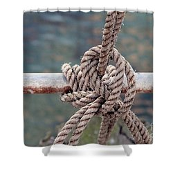 Shower Curtain featuring the photograph Knot Of My Warf by Stephen Mitchell