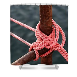 Shower Curtain featuring the photograph Knot On My Warf IIi by Stephen Mitchell