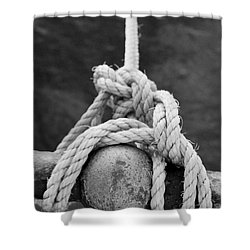 Shower Curtain featuring the photograph Knot On My Warf Iv by Stephen Mitchell